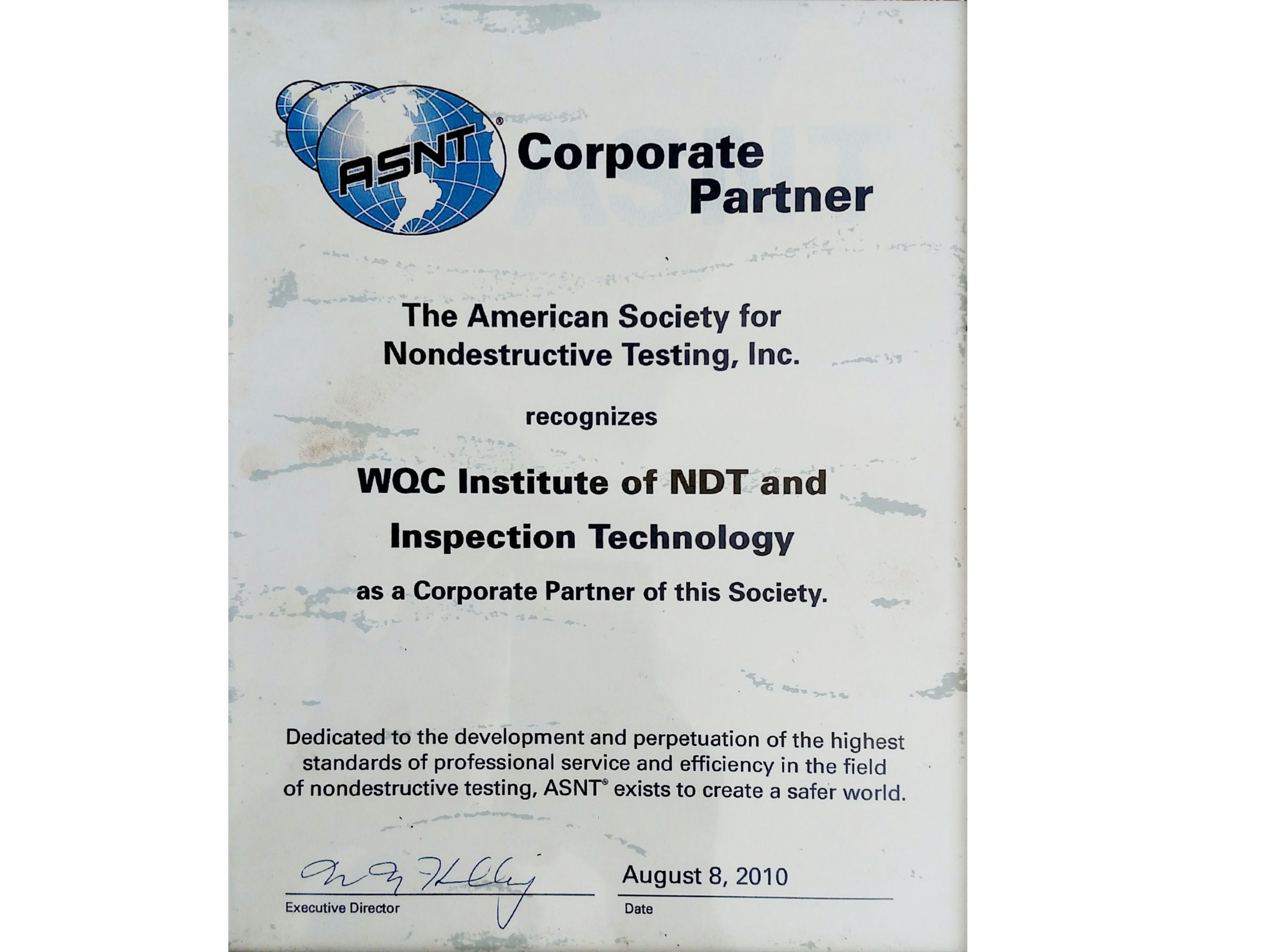 Wqc Institute Of Ndt And Inspection Technology Energy Dais Oil