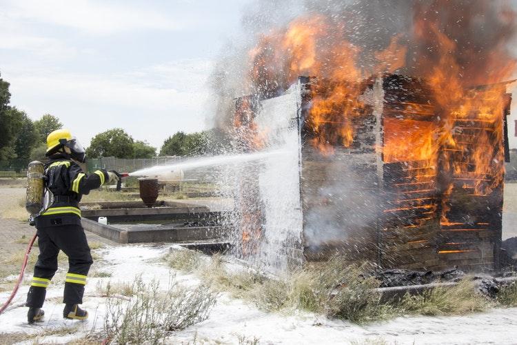 SHOP blazes in fire