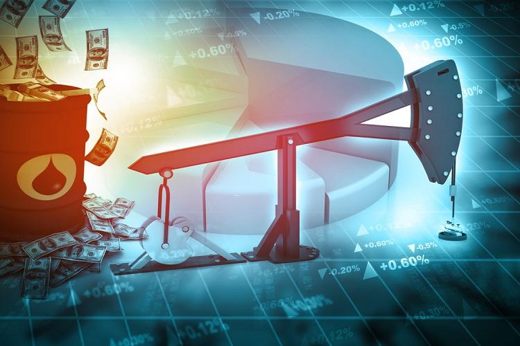 Brent crude under $75/bbl
